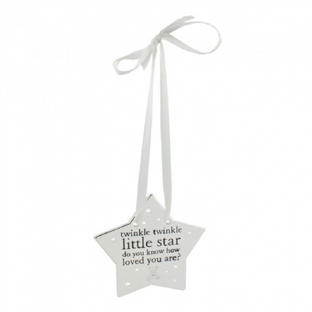 Silver Hanging Star Plaque